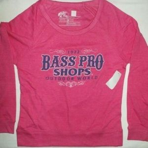 Bass Pro Shops Sweaters - Bass Pro Shops Ladies Pink Beach Sweatshirt